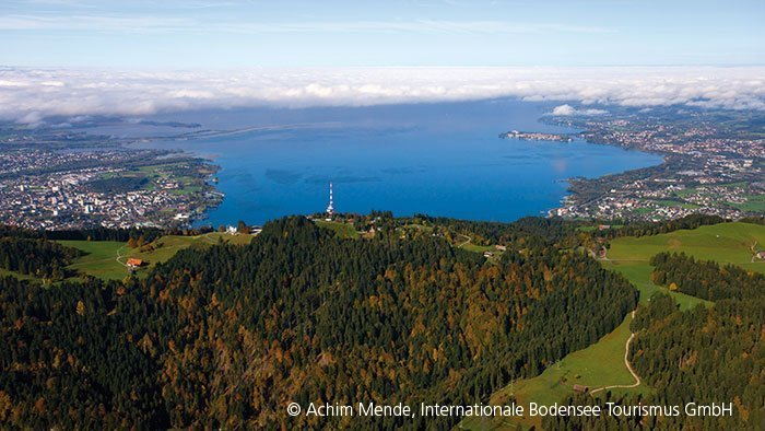 Blick auf den Bodensee aus der Vogelperspektive