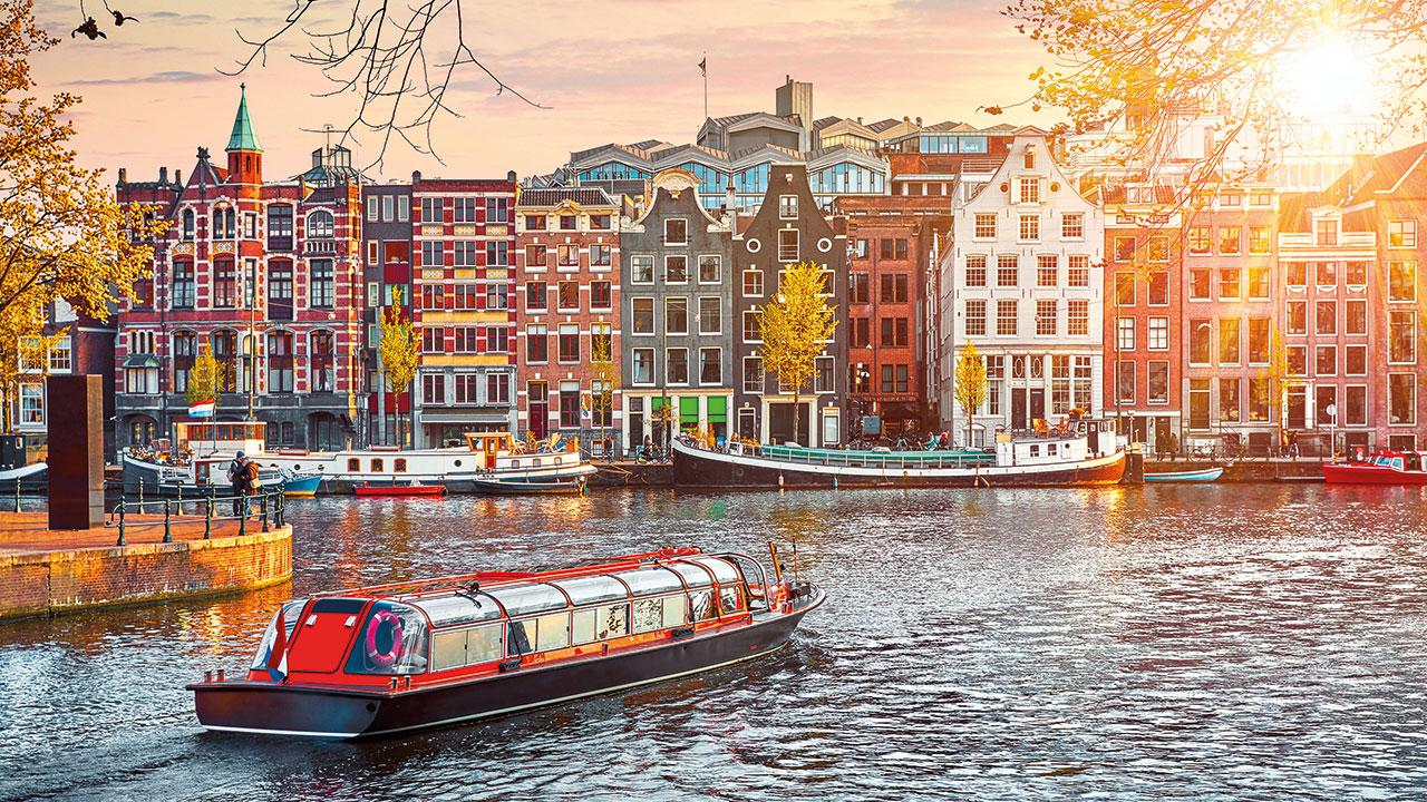 Amsterdam mit Blick auf die Grachten