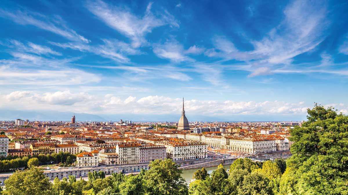 Stadtansicht von Turin in Piemont