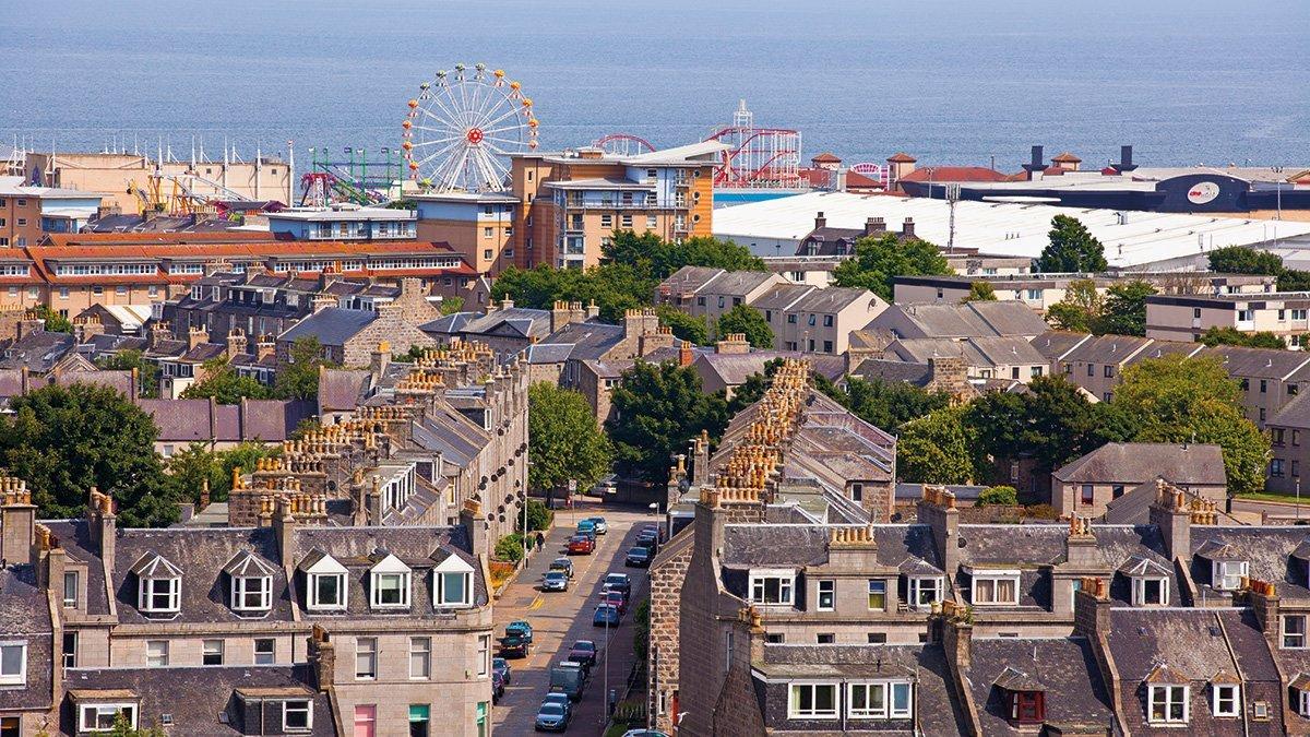 Aberdeen Blick aufs Meer