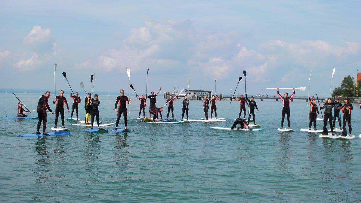 Paddelgruppe auf dem Bodensee