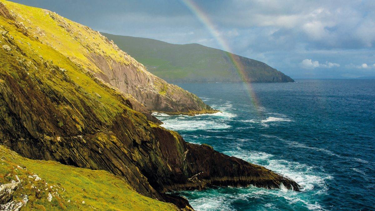 Kerry Regenbogen Küste Slea Head