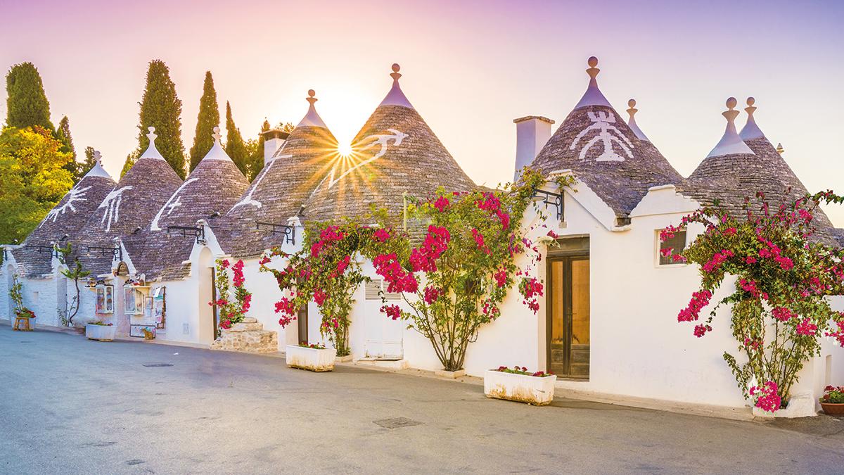 Weiße Häuser in Apulien