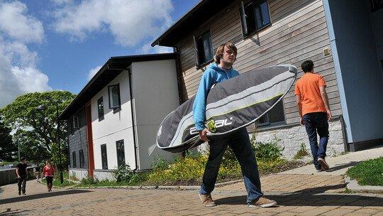Wohnungen auf dem Campusgelände der Uni Falmouth