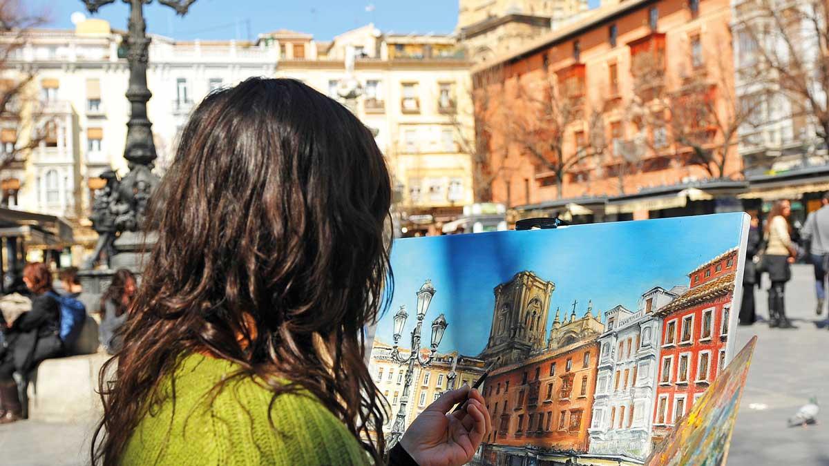 Malerin in Granada