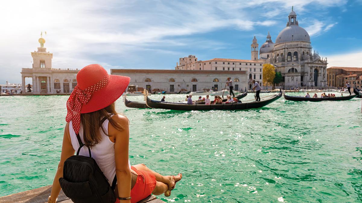 Touristin in Venedig