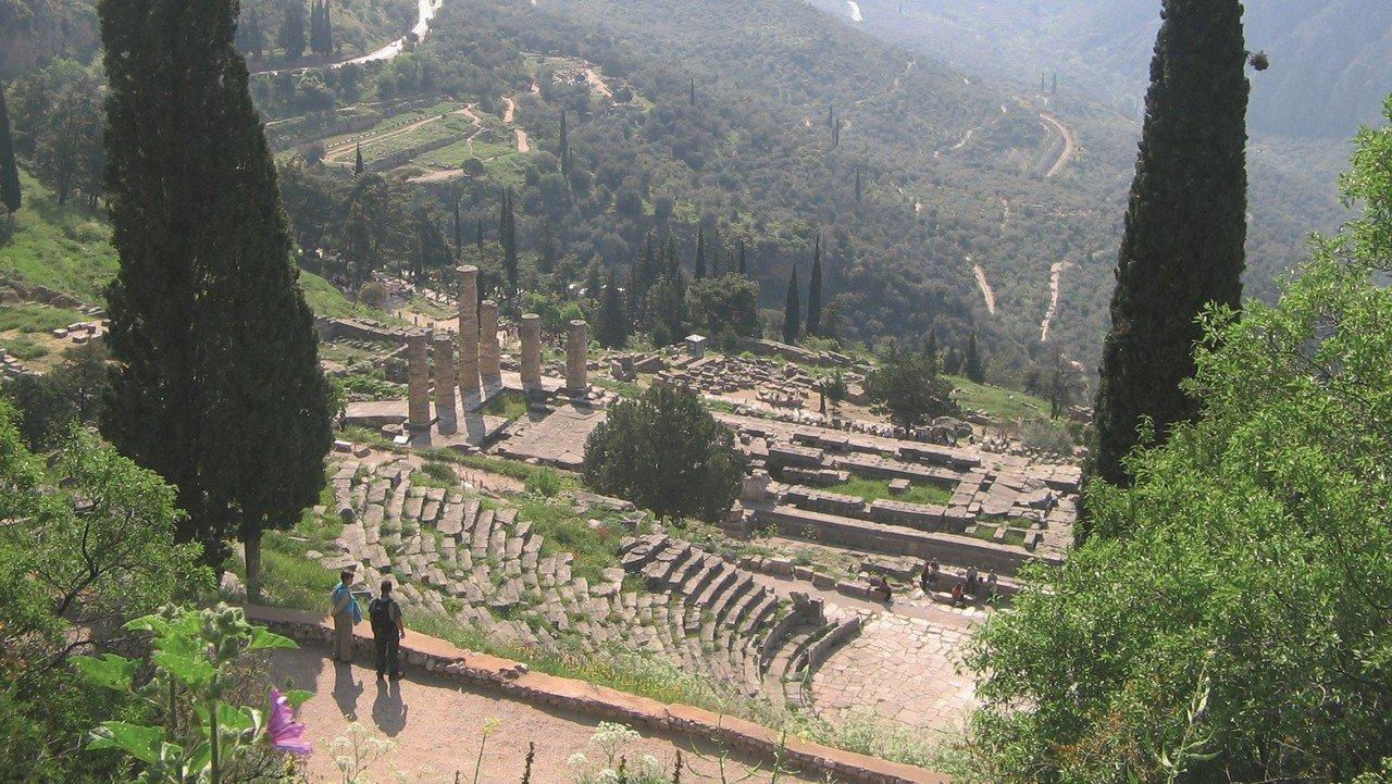 Blick auf Delphi