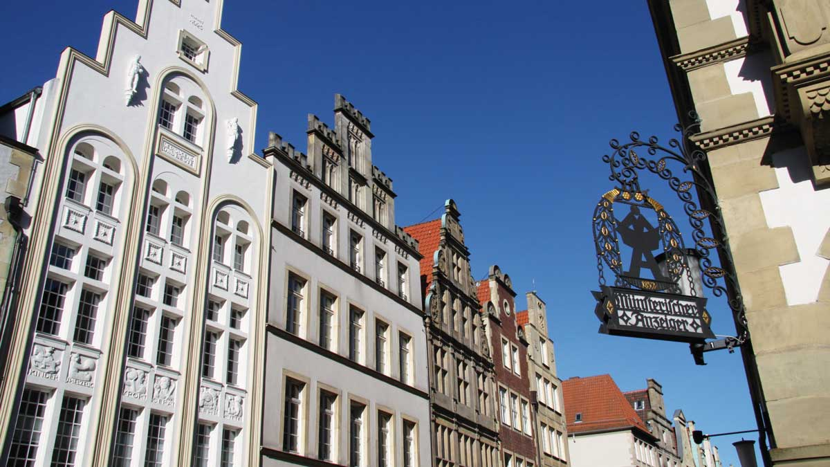 Blick in die Innenstadt Münsters