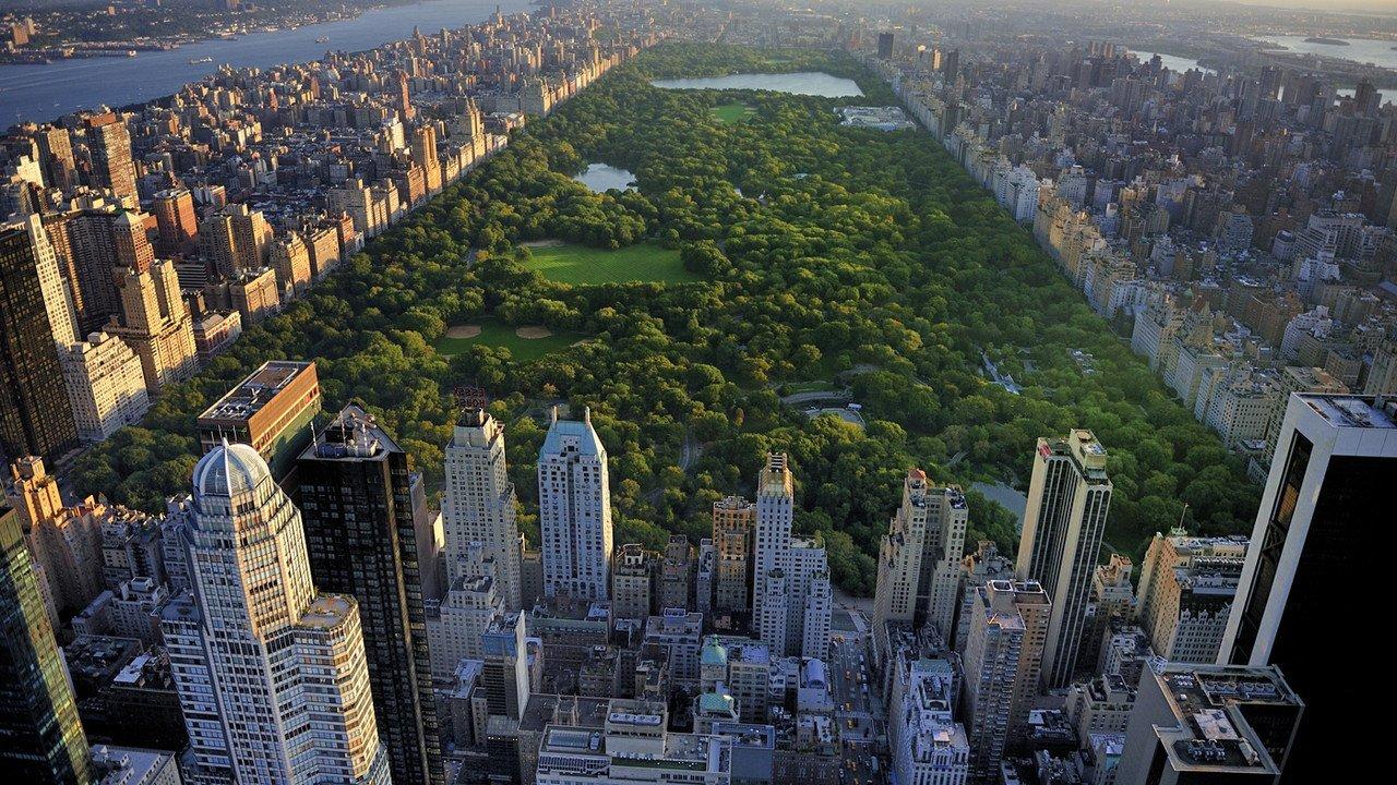Central Park aus der Vogelperspektive