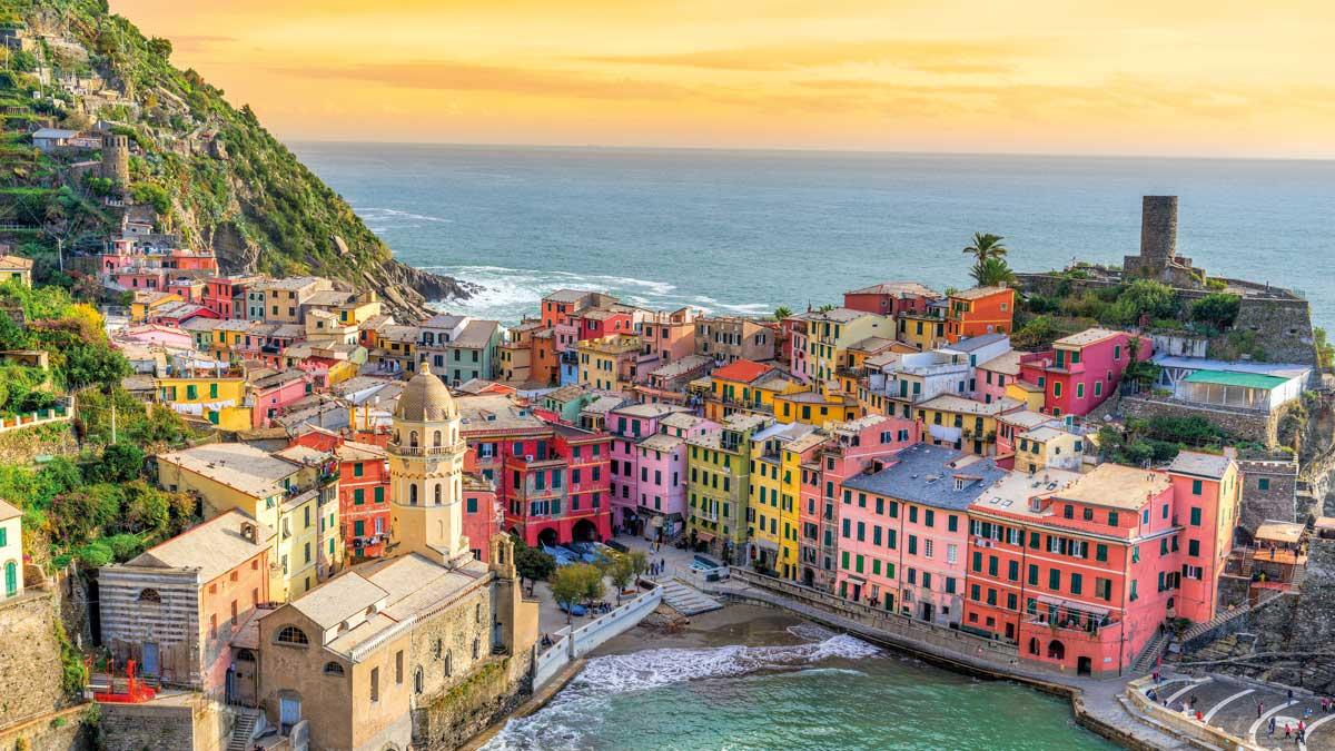 Malerische Bucht in der Toskana