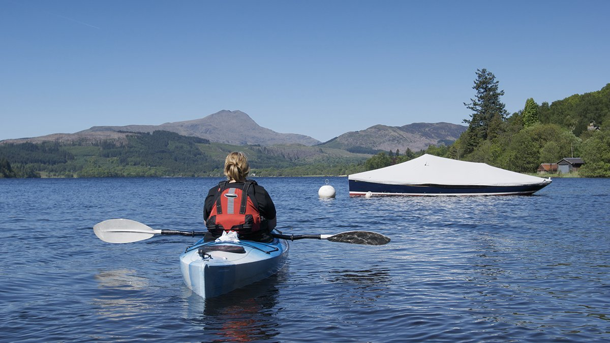 Kanutour in Loch Lomond