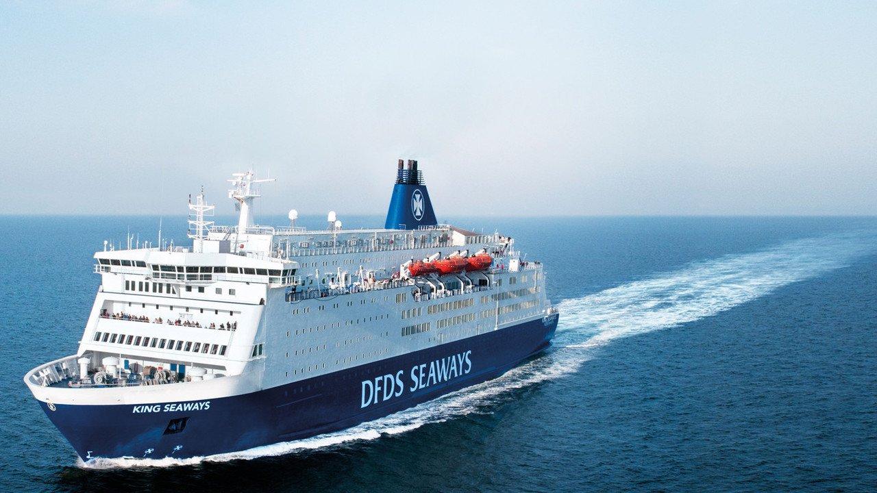 Fährschiff bei der Überfahrt