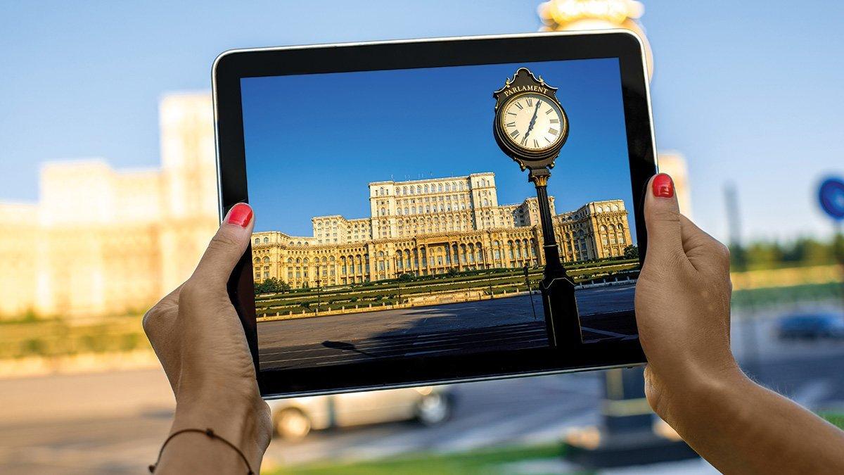 Bukarest Parlament Tablet