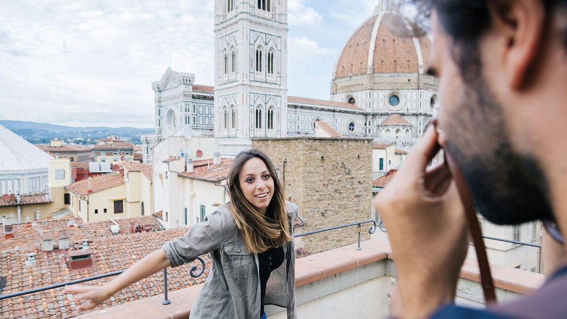 Pärchen vor dem Dom in Florenz