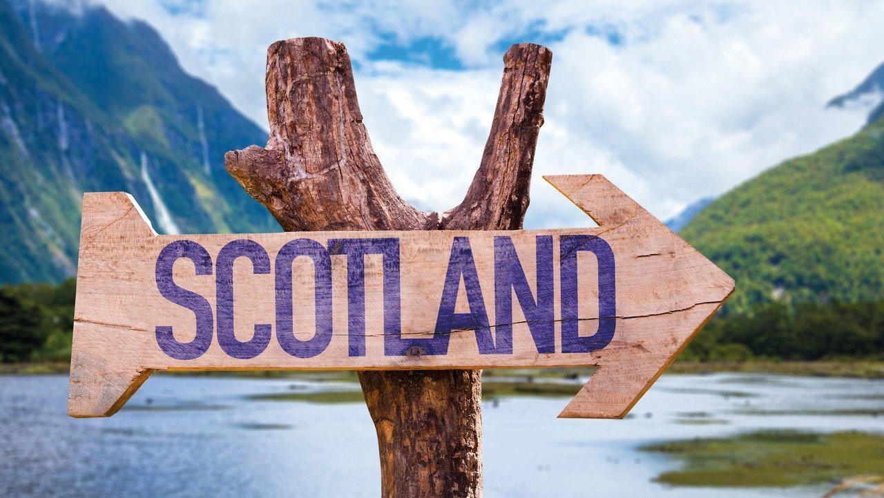 Wegweiser nach Schottland