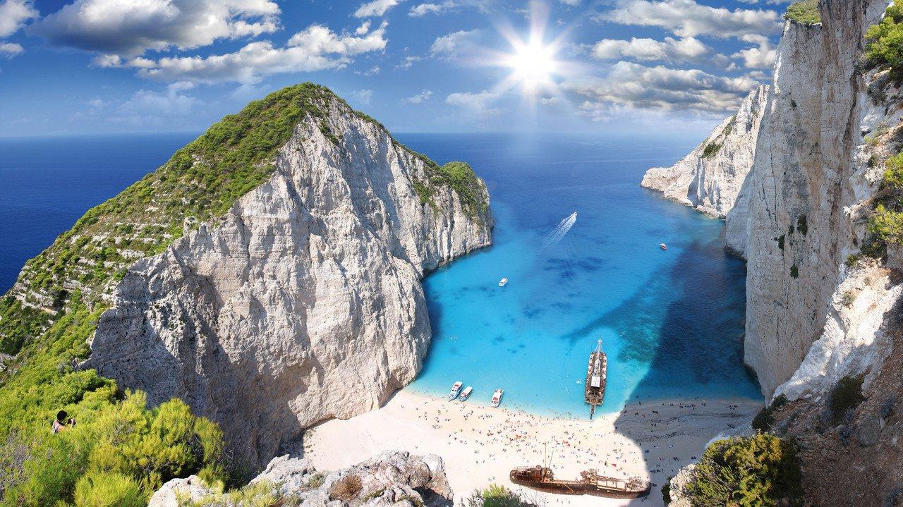 Schöne Bucht in Griechenland