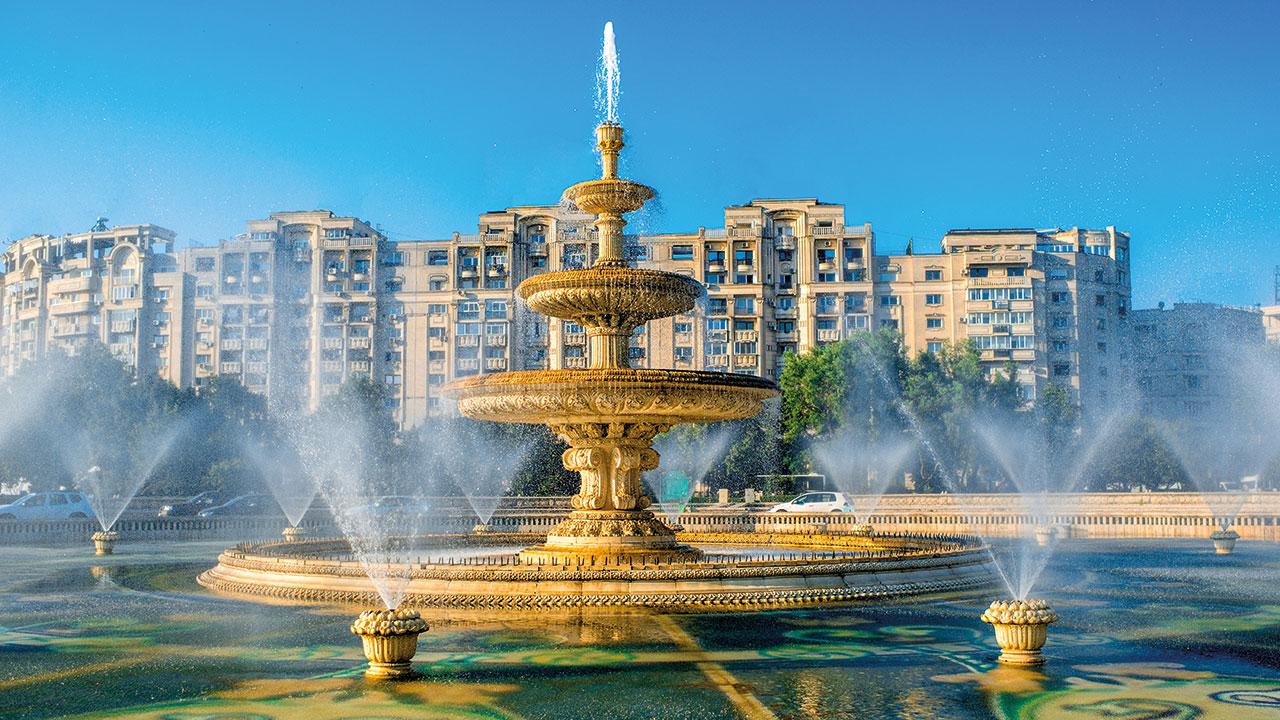 Bukarest Brunnen Innenstadt