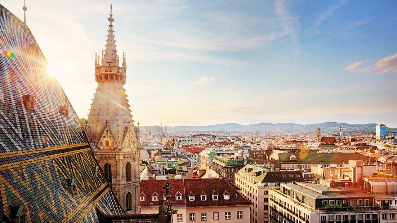 Blick auf Wien vom Stephansdom
