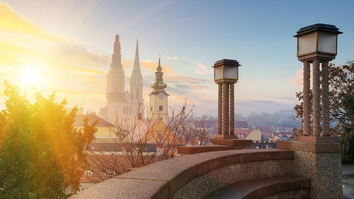 Zagreb am Morgen