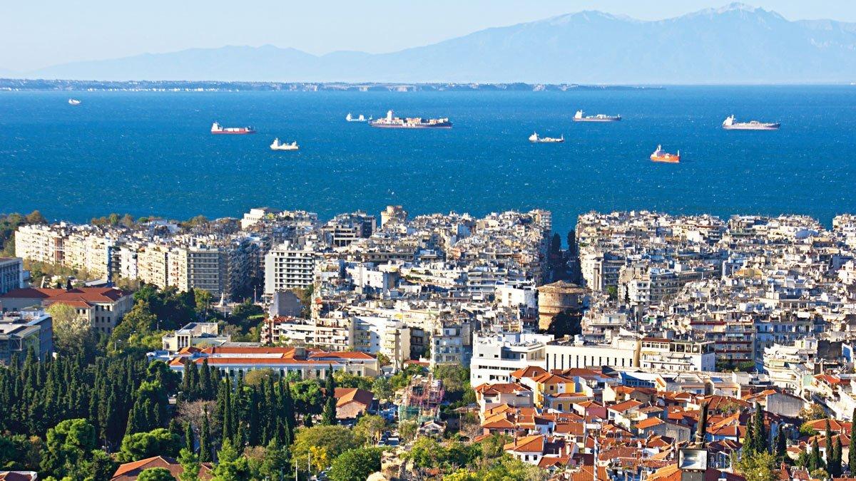 Thessaloniki aus der Vogelperspektive