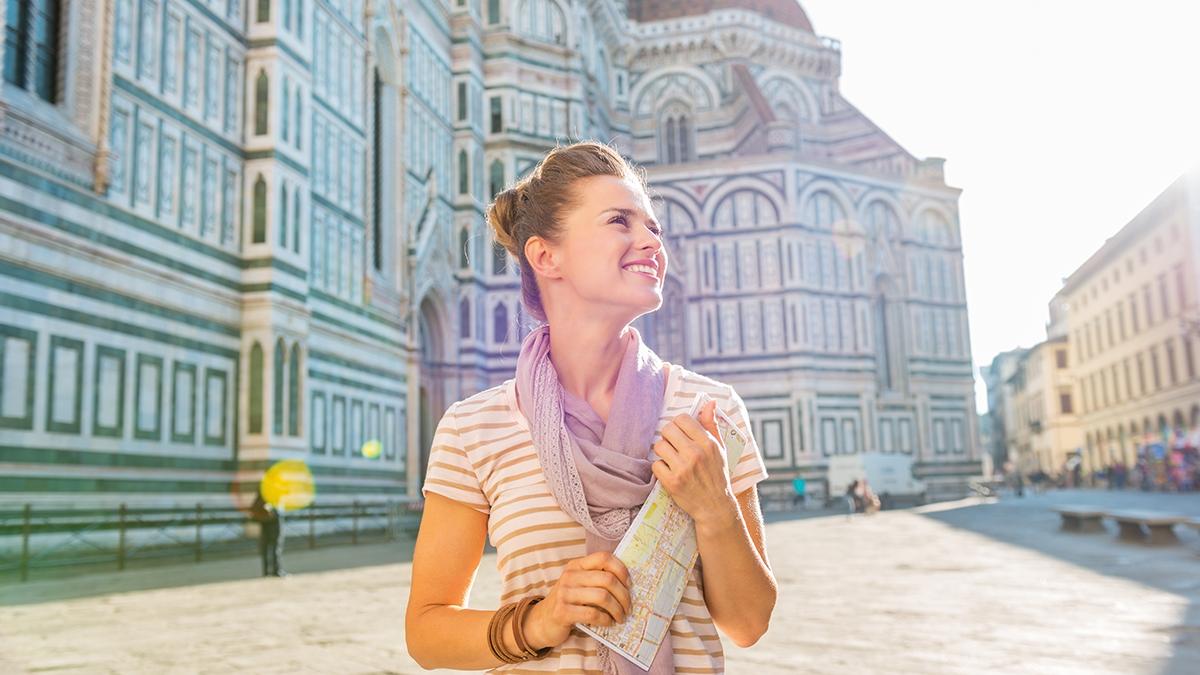 Florenz Mädchen Kathedrale