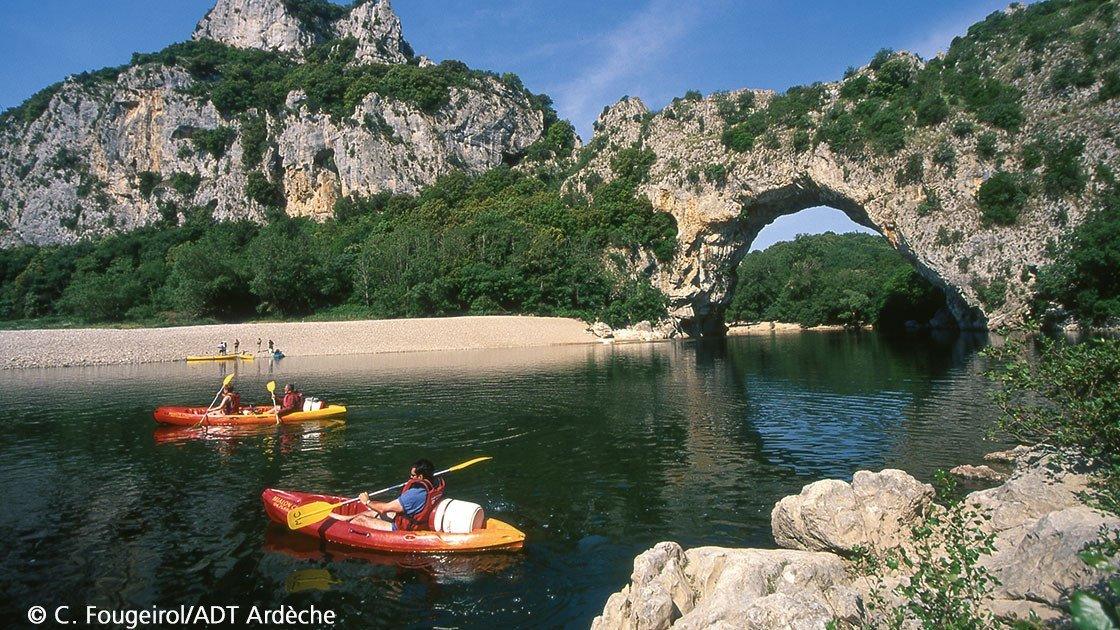 Kanutouren in der Ardèche