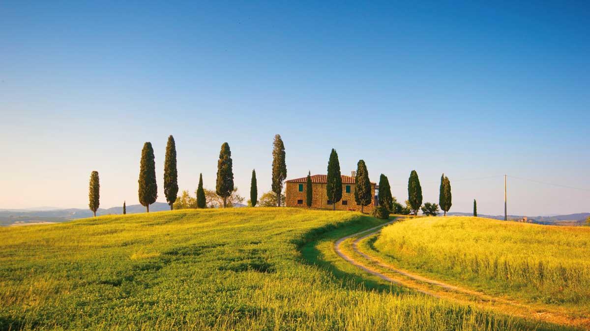 Ein Hügel in der Toskana