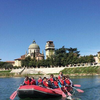 City-Rafting auf der Etsch
