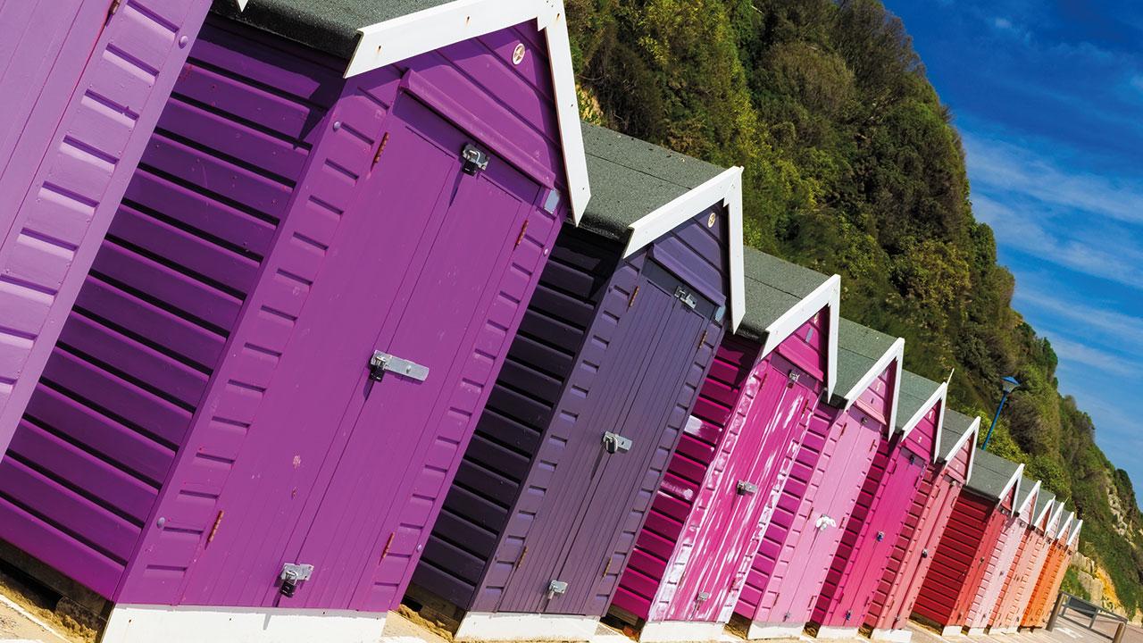 Bournemouth Strandhütten