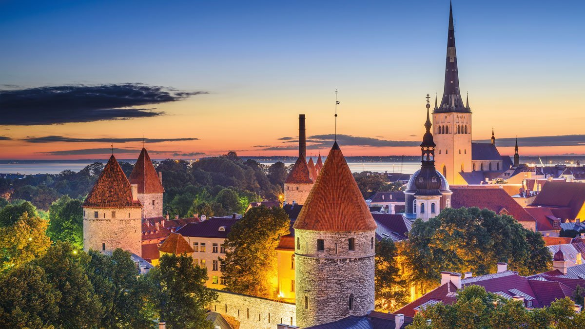 Tallinn Stadtansicht von oben