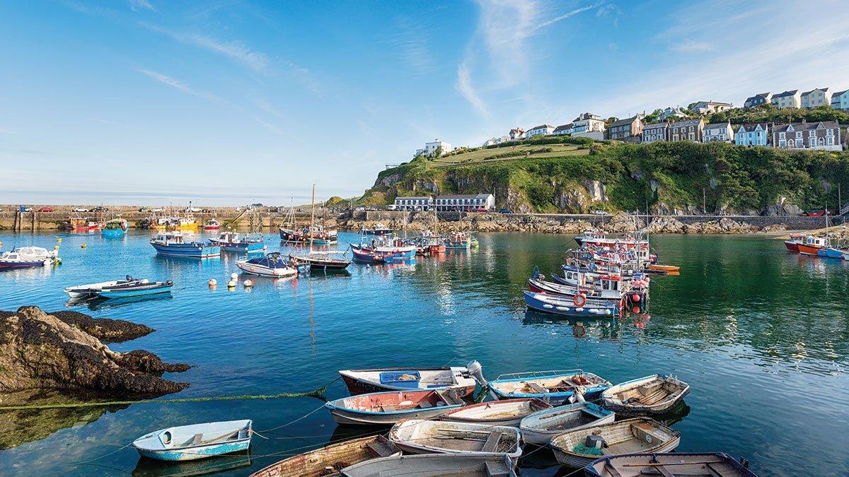 Cornwall Hafen mit Booten