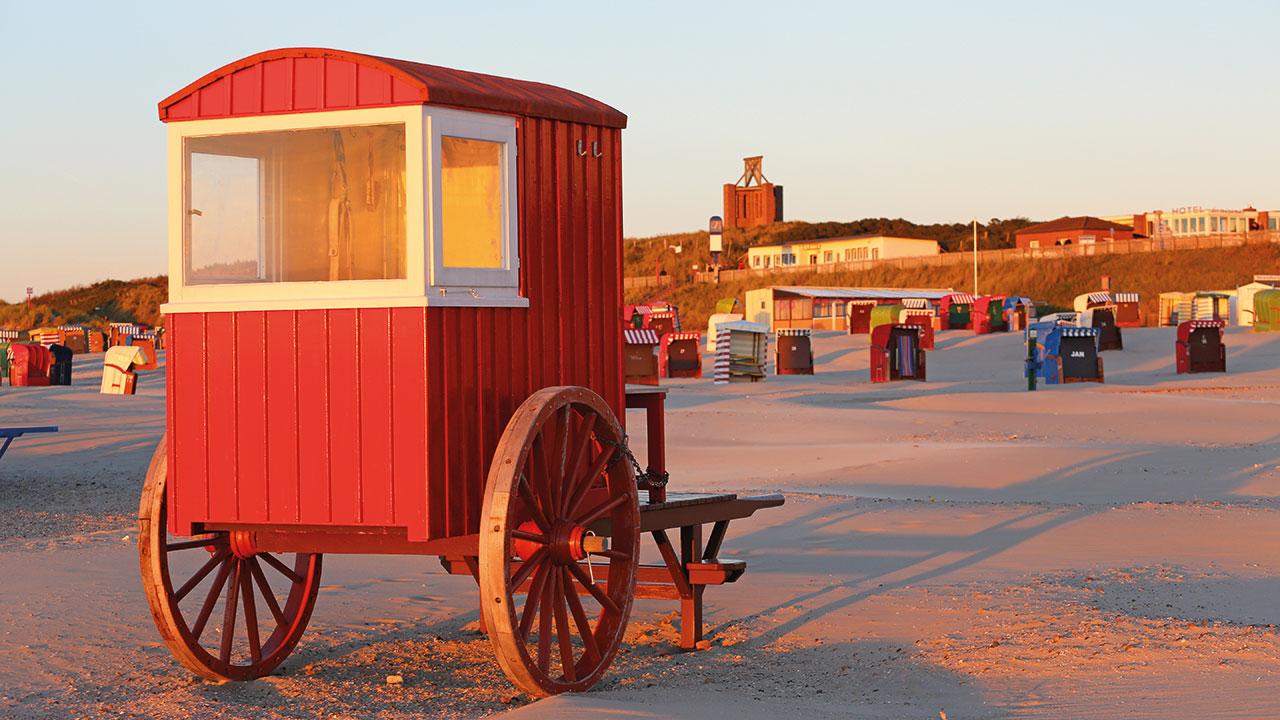 Strandwagen am Strand