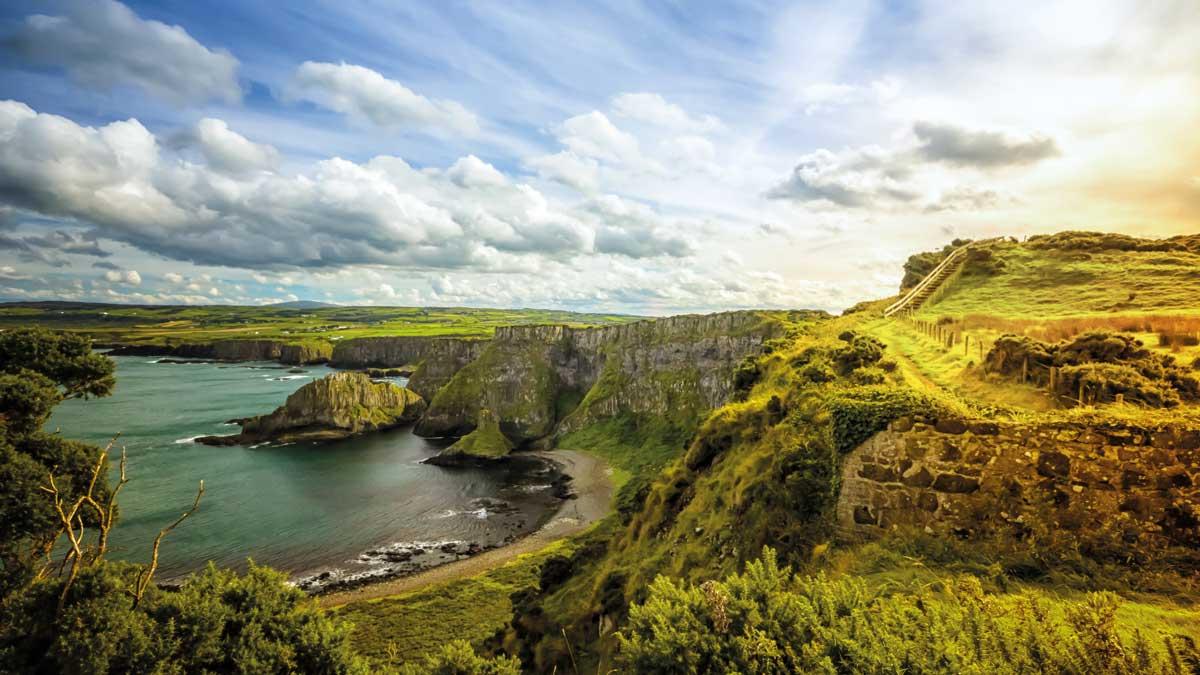 Panorama Blick auf eine wunderschöne Landschaft