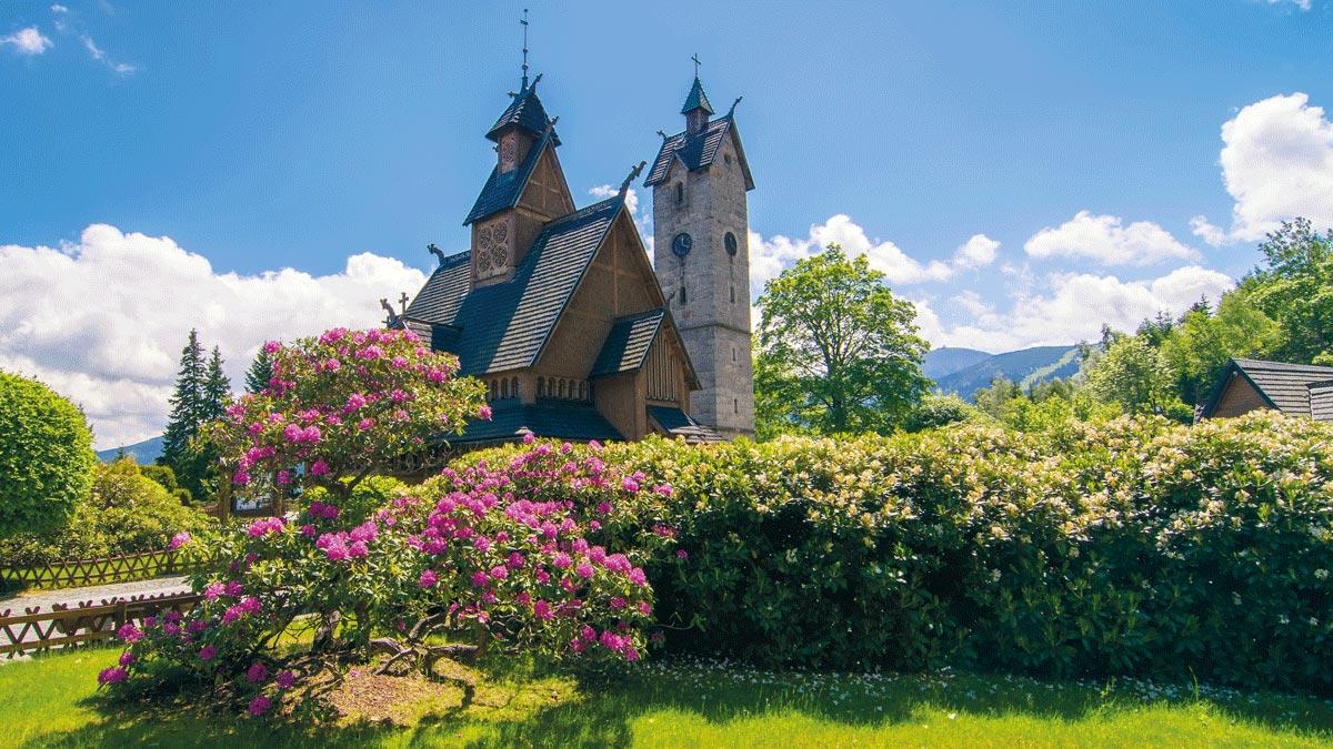 Riesengebirge Stabkirche Wang
