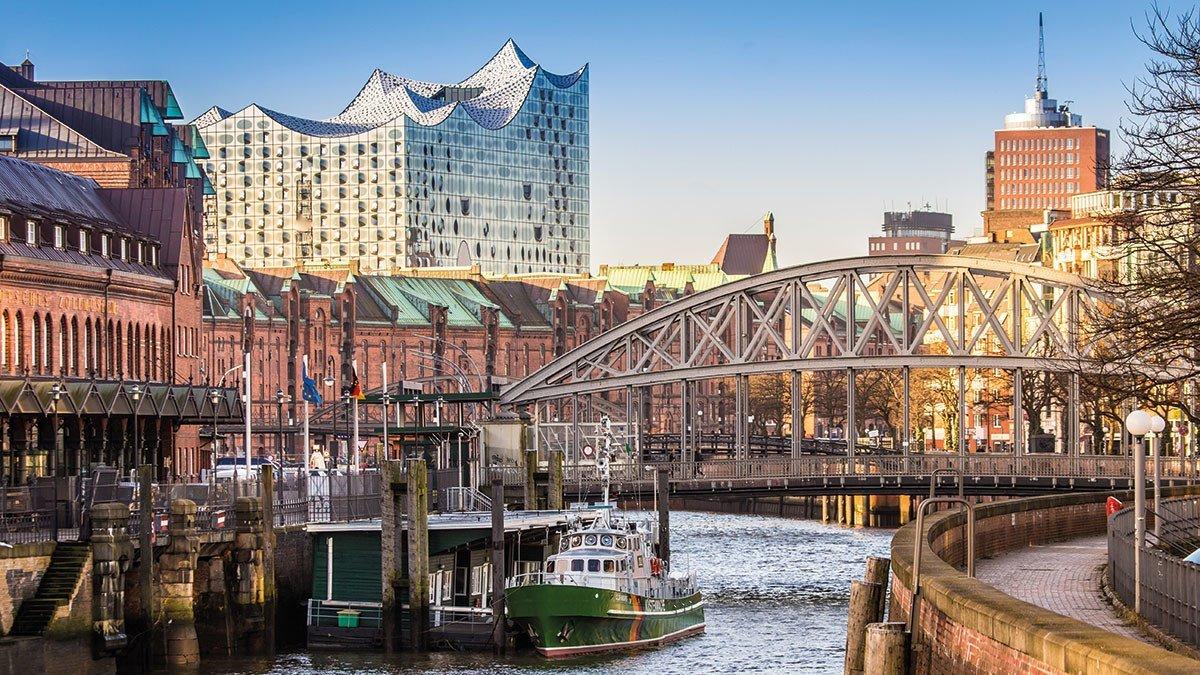 Aussicht auf deie Hamburger Elbphilharmonie