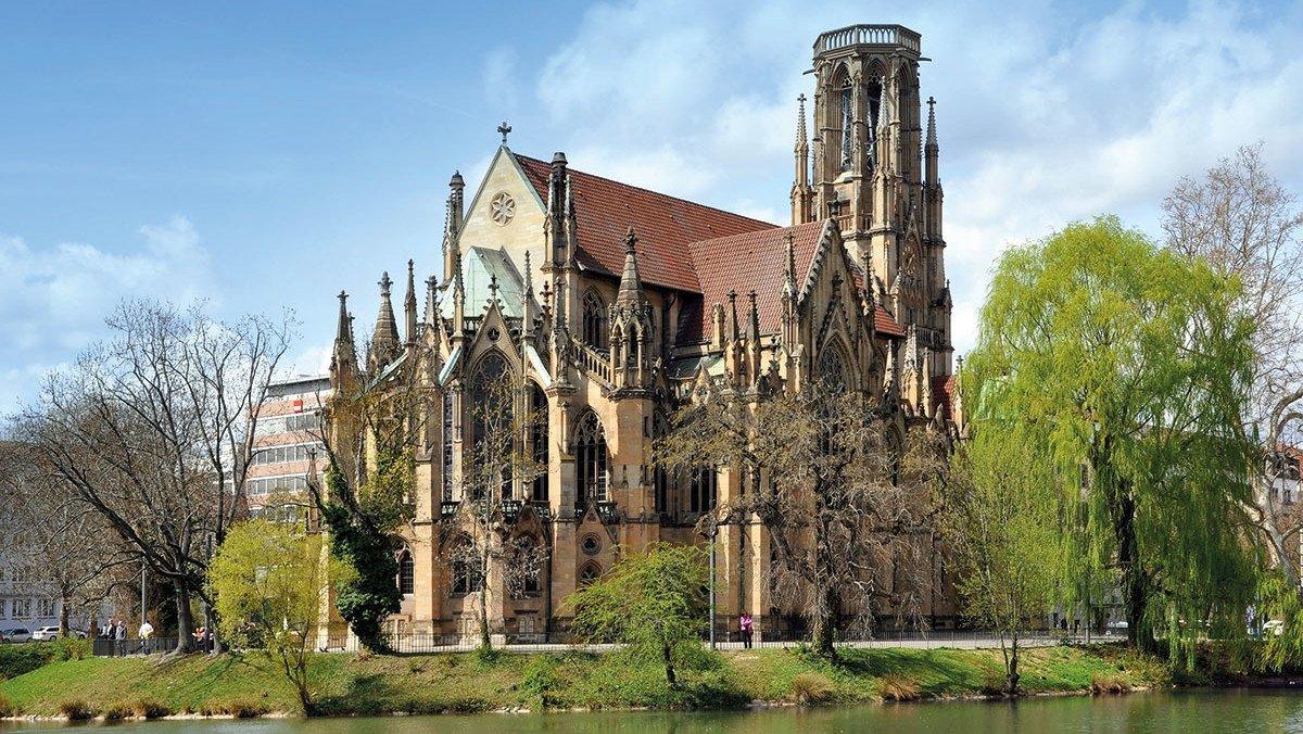 Gotische Johanneskirche in Stuttgart