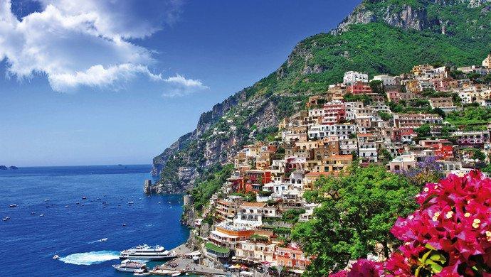 Flugreise nach Neapel