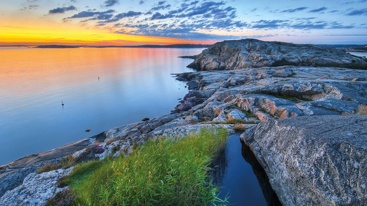 Sonnenuntergang an der Küste Bohuslän