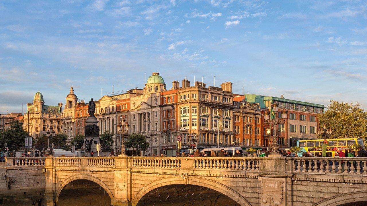 Dublin O-Connell Street Sonnenuntergang