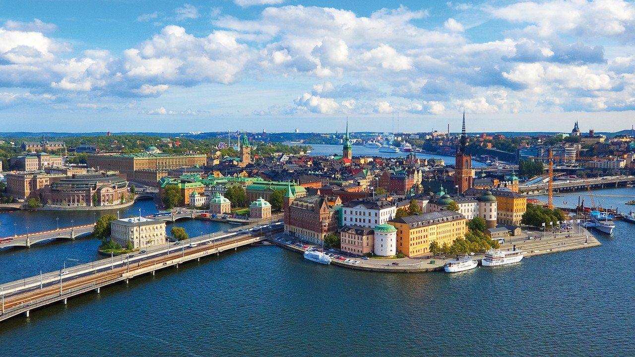 Blick auf die Inseln Stockholms