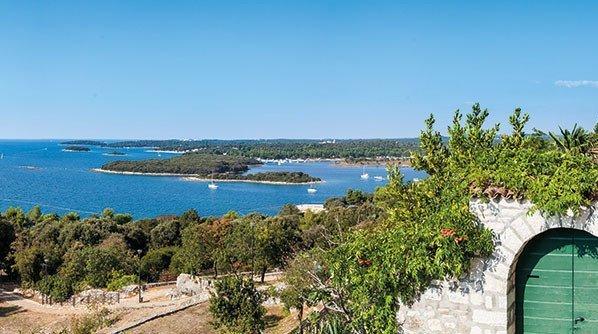Blick auf die Küste Istrien