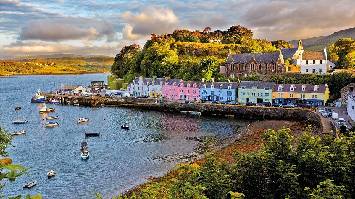 Isle of Skye Portree Panorama