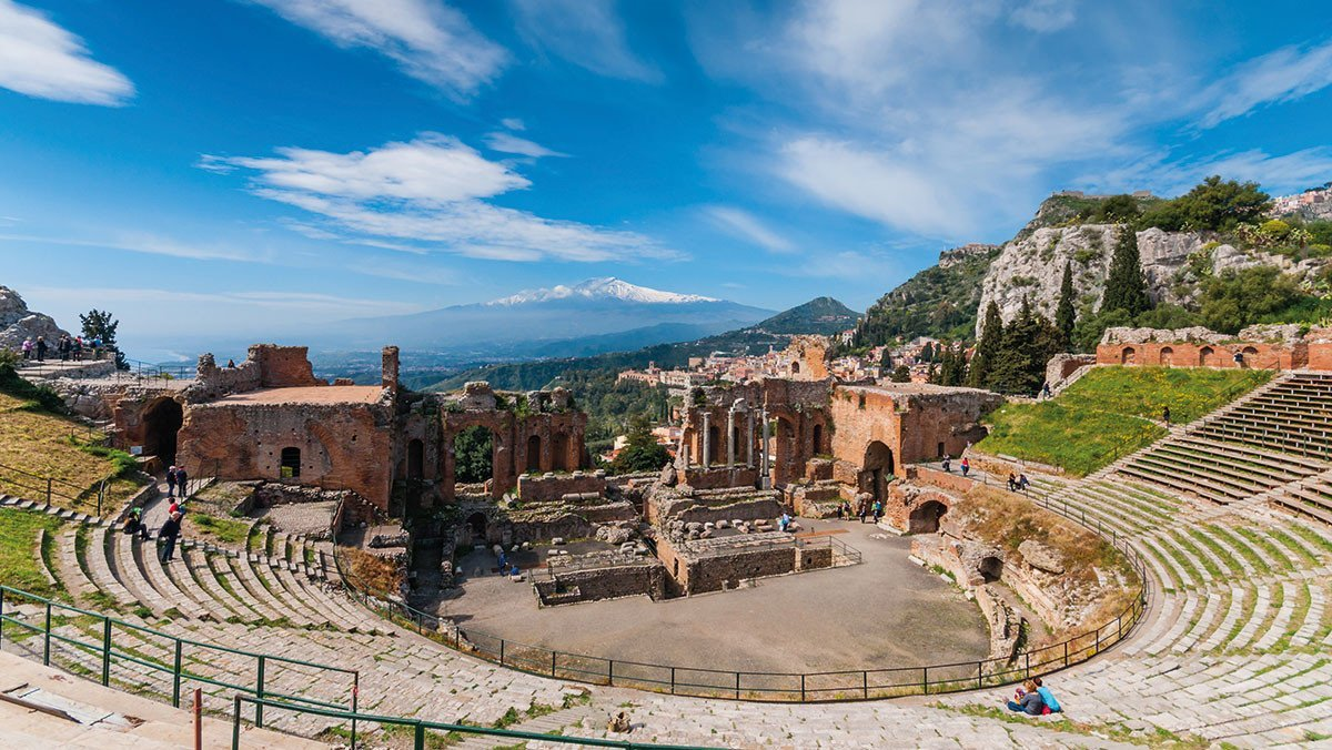 Taormina Theater in Sizilien