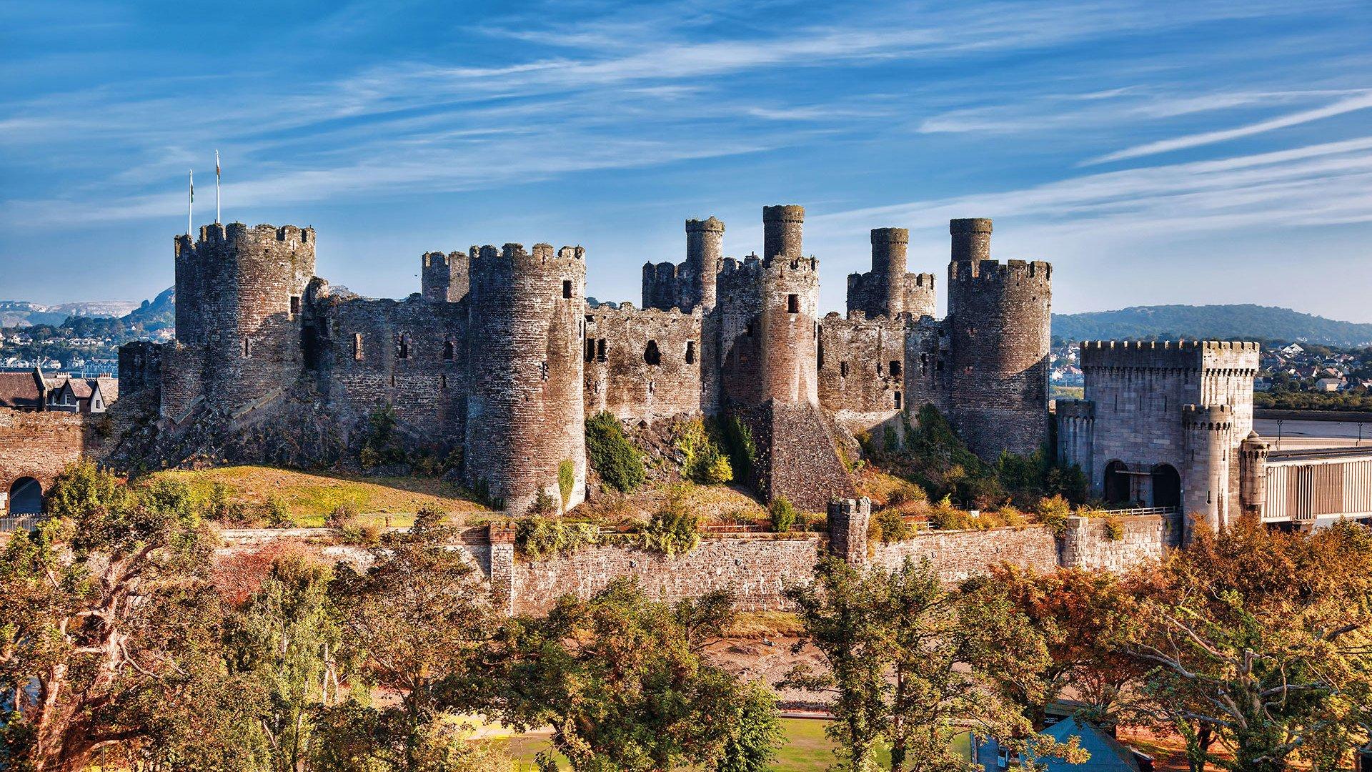 Schloss in Wales