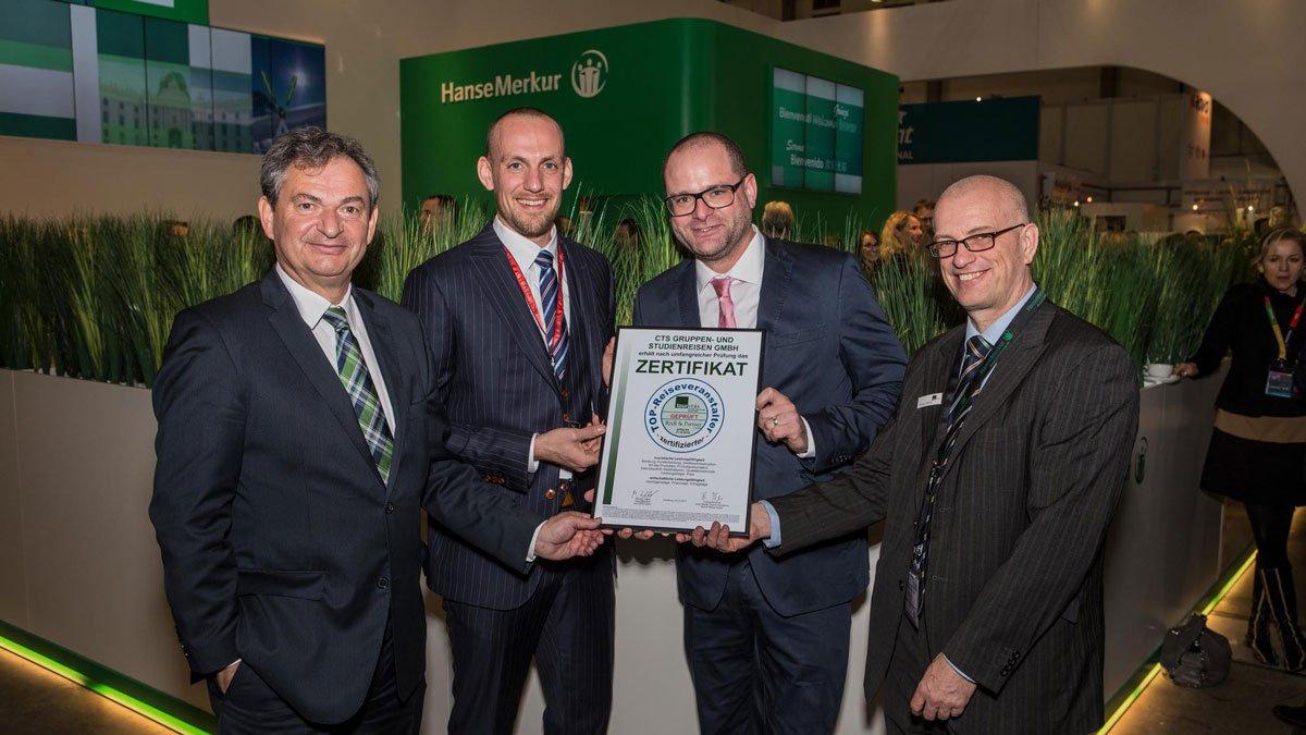 Zertifikatsübergabe TOP-Reiseveranstalter auf der ITB 2018