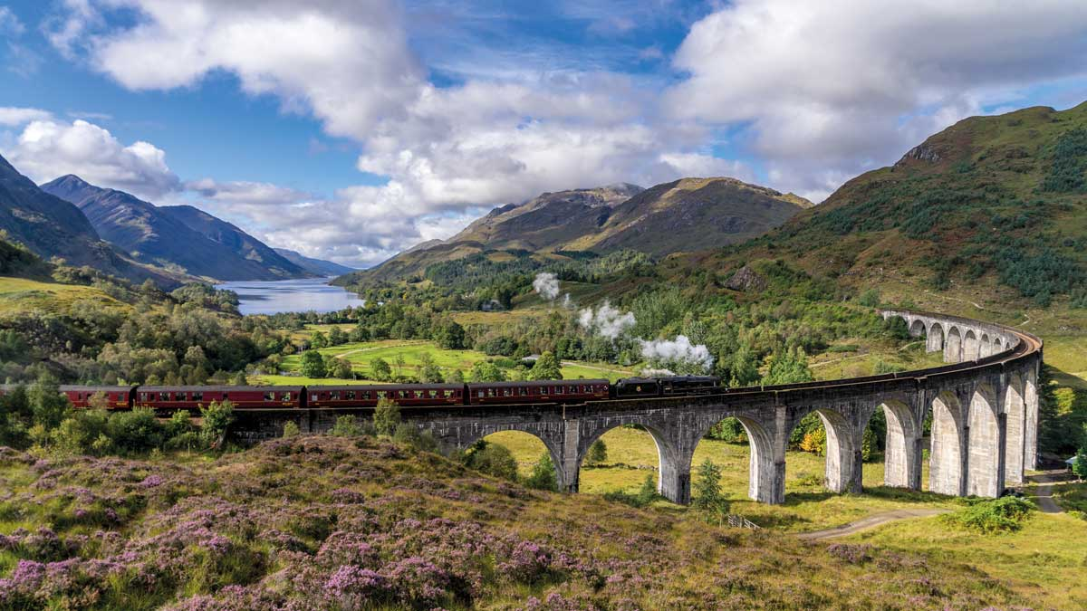 Berge, Flüsse und Railway in Schottland