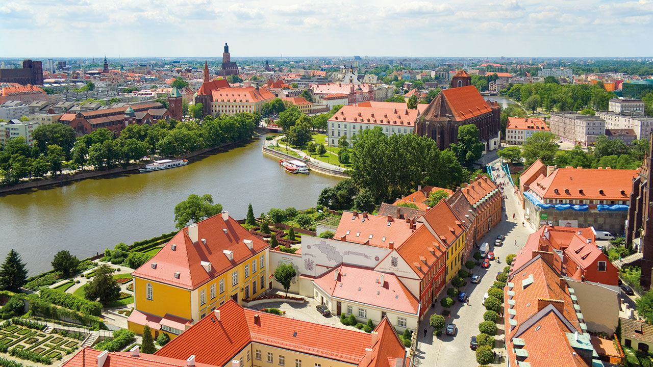 Breslau Stadtübersicht
