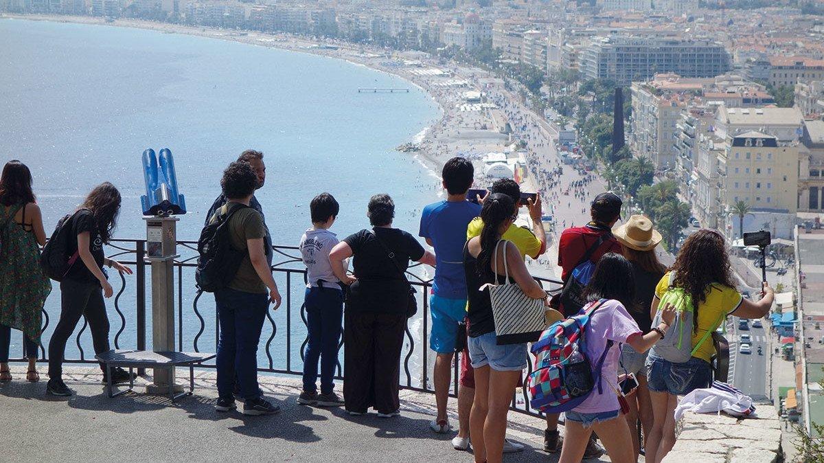 Aussicht auf Nizza an der Côte d'Azur