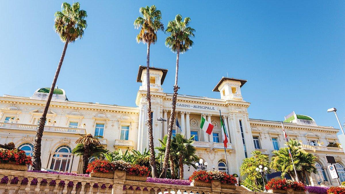Italienische Riviera - Ausblick auf das San Remo Casino