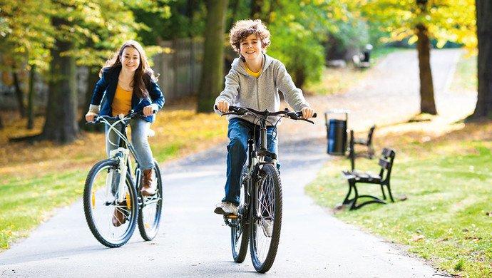 Per Fahrrad durch die City